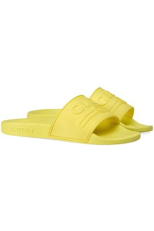 Gucci Children's Gucci logo rubber slide sandal