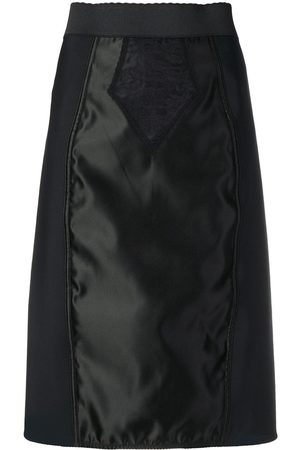Dolce & Gabbana Satin-panelled skirt