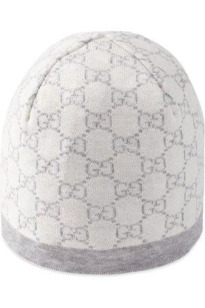 2baa567a069 Gucci Baby GG pattern wool hat. Grey