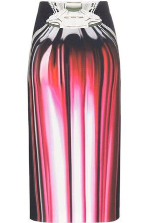 Mary Katrantzou Opium Perfume Print Pencil Skirt
