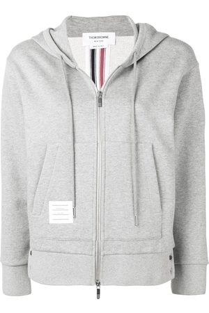 326868e6c9e9 Thom Browne Center-Back Stripe Zip-Up Hoodie