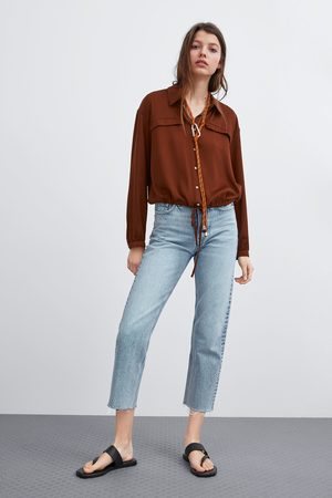 Zara Cropped printed shirt