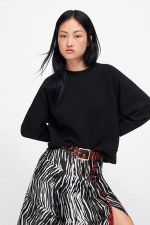 Zara Women Sweatshirts - Plush sweatshirt