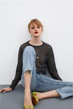 Zara Semi-transparent sweatshirt