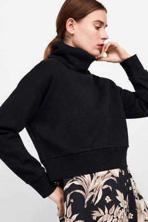 Zara Women Sweatshirts - Roll neck sweatshirt