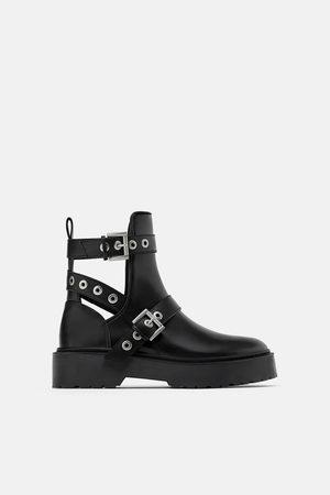 Zara Cut-out biker ankle boots