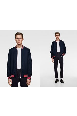Zara Bomber jacket with contrast ribbing