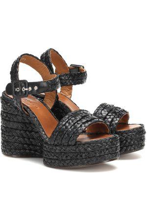 Robert Clergerie Arum raffia wedge sandals