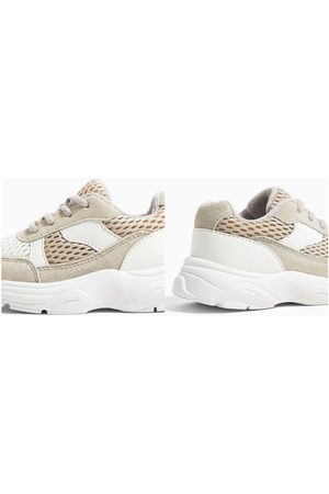 Zara Leather and mesh sneakers