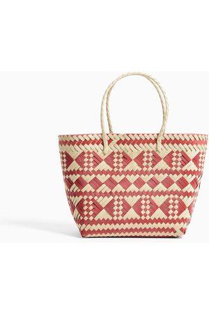 Zara Coloured braided tote bag