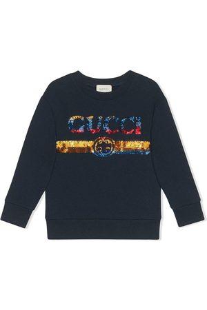 Gucci Boys Sweatshirts - Children's sweatshirt with sequin Gucci logo