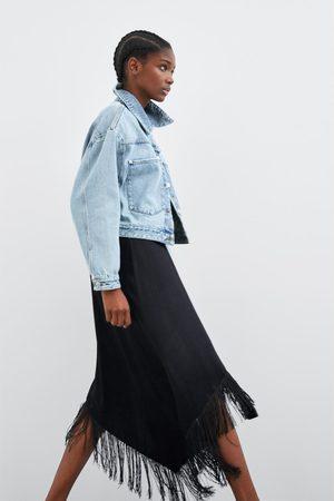 Zara Women Skirts - Fringed pareo skirt