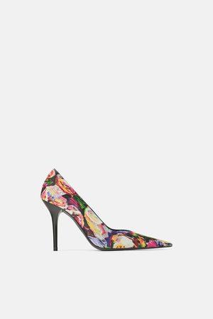 Zara Printed high-heel shoes