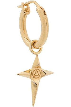NORTHSKULL Men Earrings - Crucifix charm hoop earring
