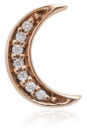 Andrea Fohrman 14K rose gold Crescent Moon diamond earring