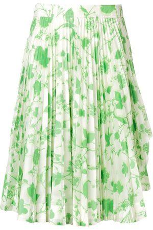 Calvin Klein Women Printed Skirts - Floral print pleated skirt