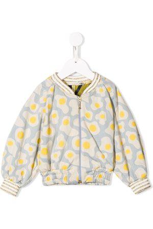 RASPBERRY PLUM Girls Bomber Jackets - Fried egg print bomber jacket