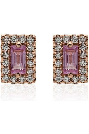 Suzanne Kalan And pink sapphire stud earrings