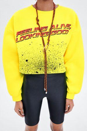 Zara Cropped sweatshirt with slogan