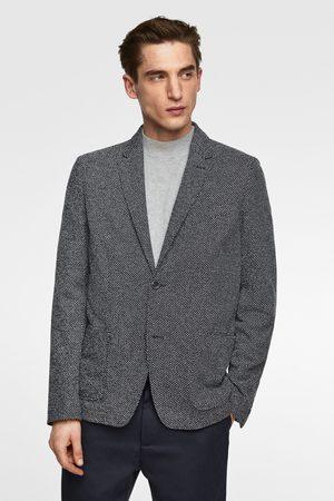 Zara Men Blazers - Textured weave blazer