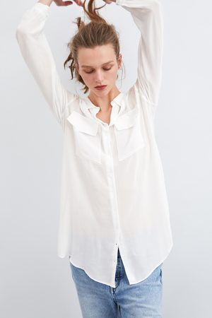 Zara Semi-sheer shirt