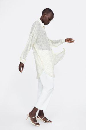Zara Long polka dot shirt