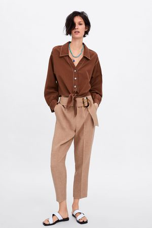 Zara Cropped button-up shirt