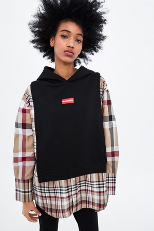 Zara Mock shirt sweatshirt