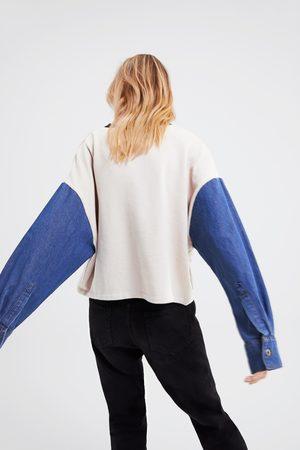 Zara Contrasting oversized sweatshirt