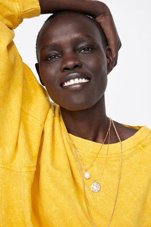 Zara Faded-effect oversize sweatshirt