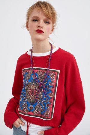 Zara Front print sweatshirt