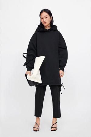 Zara Oversized drawstring sweatshirt