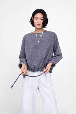 Zara Faded-effect sweatshirt