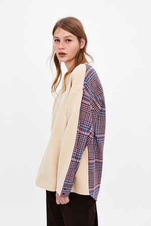 Zara Mock shirt sweatshirt