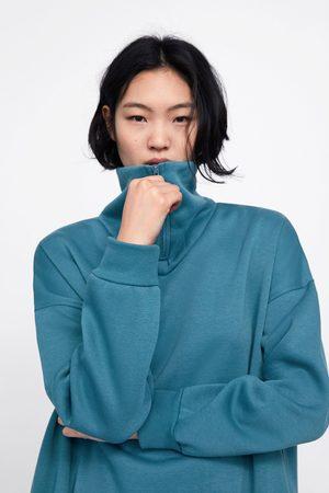 Zara Oversized zipped sweatshirt