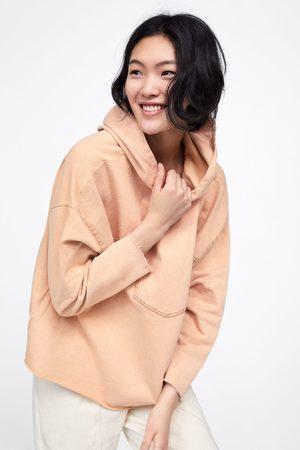Zara Contrasting hooded sweatshirt