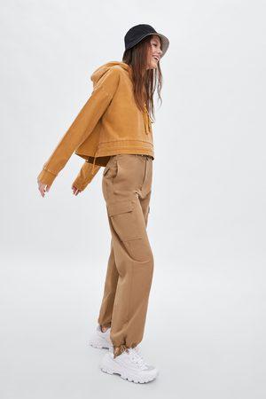 Zara Faded-effect hoodie