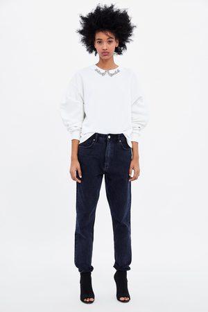 Zara Sweatshirt with rhinestone collar