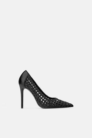 Zara Braided high-heel shoes