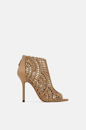 Zara Braided ankle boot sandals