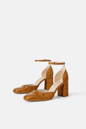Zara Animal print leather high-heel shoes