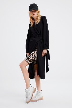 Zara Animal print cycling leggings