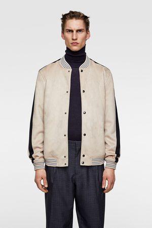 Zara Faux suede bomber jacket
