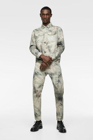 Zara Tie-dye denim jacket