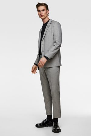 Zara Houndstooth suit blazer