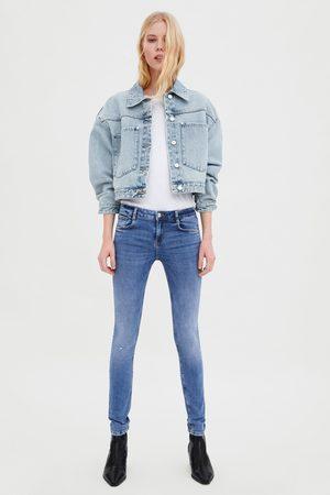 Zara Ripped low-rise sculpt jeans