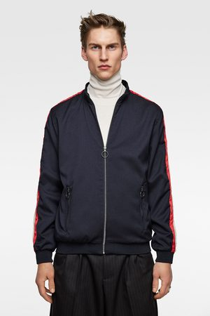 Zara Bomber jacket with side taping