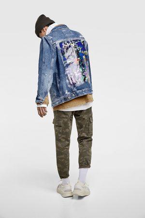 Zara Denim jacket with back print
