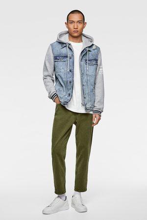 Zara Denim jacket with contrast hood