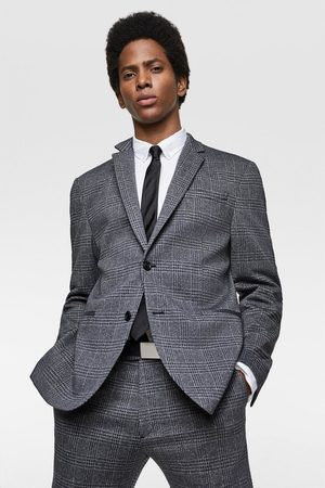 Zara Comfort knit check blazer